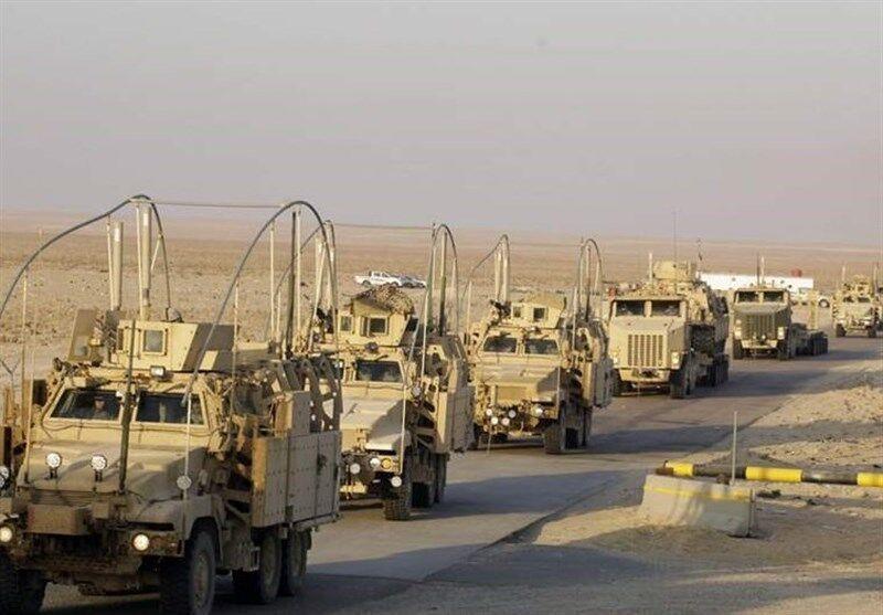 ورود سومین کاروان نظامیان آمریکا از سوریه به عراق در یک هفته