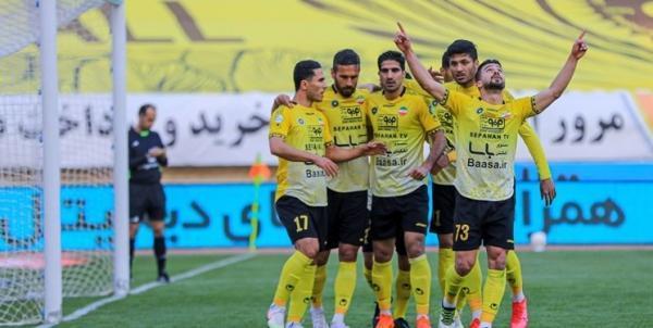 سپاهان 2 - تراکتور 0؛ پیروزی شاگردان نویدکیا در بازی مهم هفته