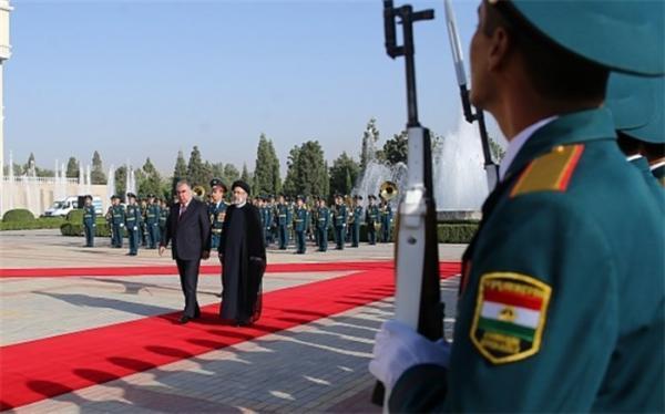 مذاکرات رسمی روسای جمهور ایران و تاجیکستان شروع شد